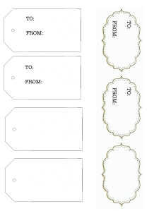 Holiday Gift Tags Template